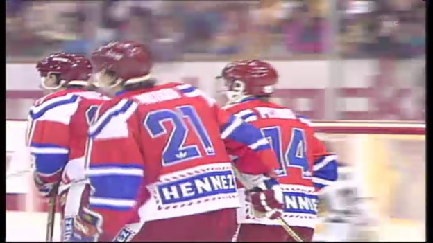 Video «Spengler Cup 1991: HC Lugano - ZSKA Moskau» abspielen