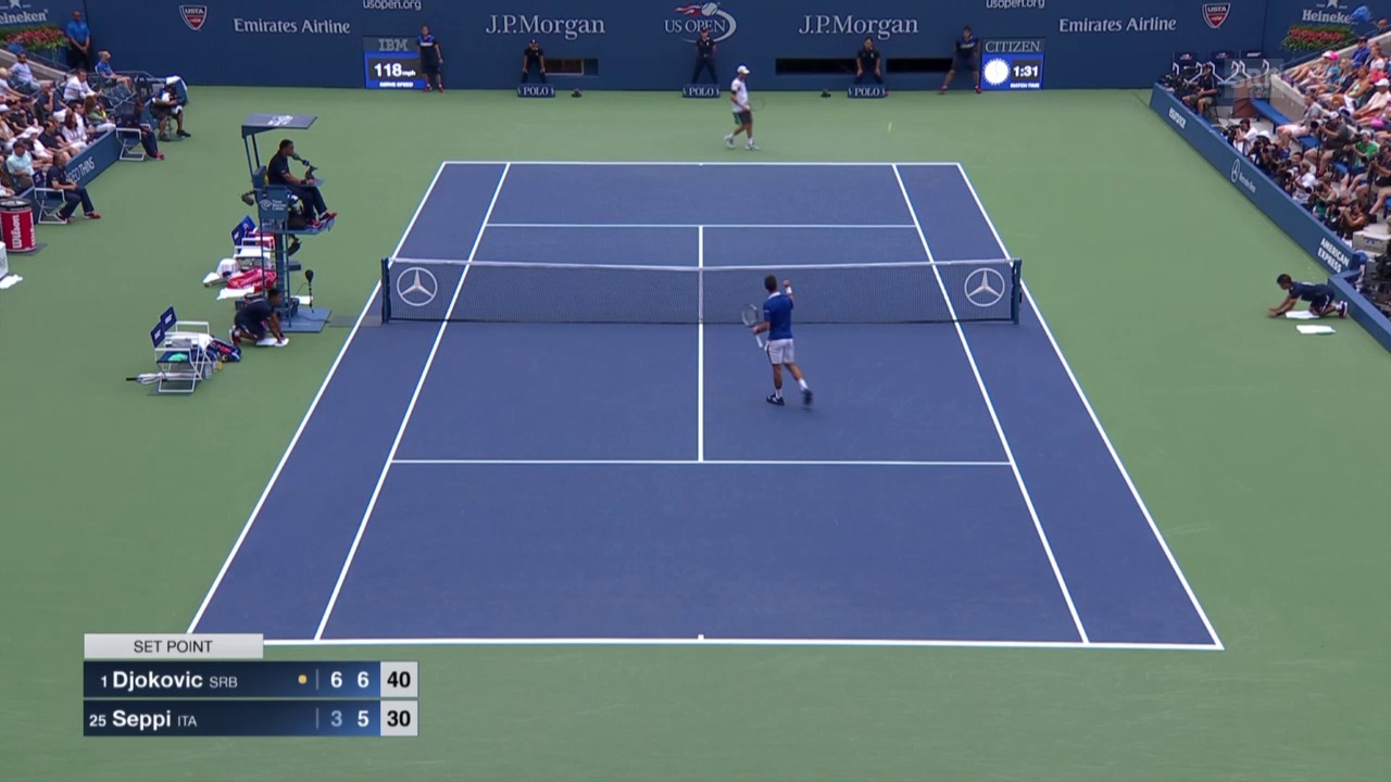 Tennis: US Open, Djokovic - Seppi