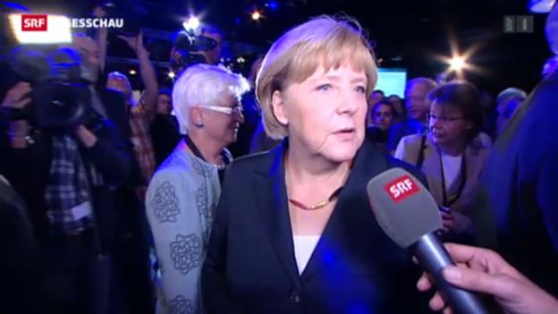 Video «Angela Merkel: «Unterschiedliche Konzepte wurden sichtbar»» abspielen