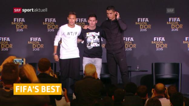 Video «Wahl zum Weltfussballer weiterin in Zürich» abspielen