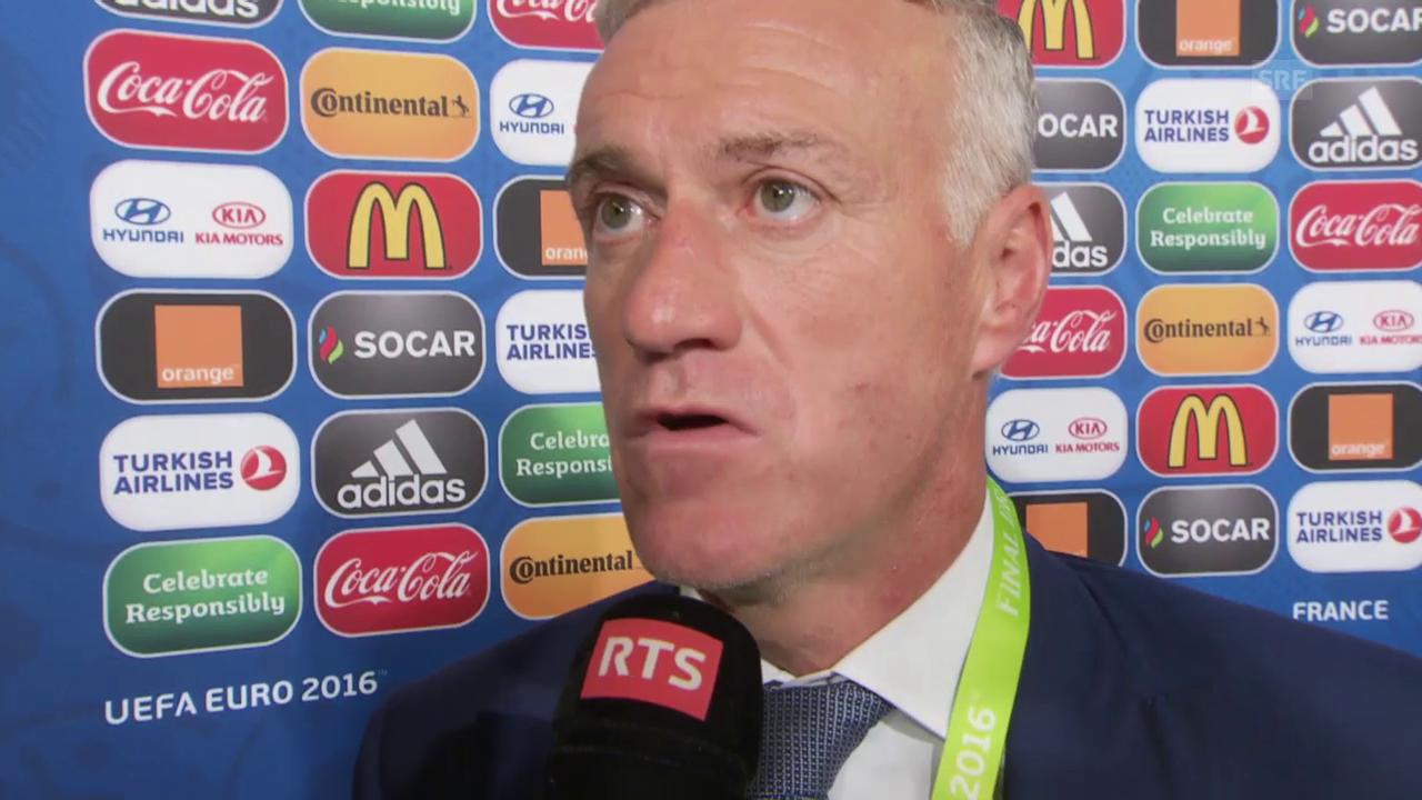Fussball: EURO 2016, Auslosung, Interview Didier Deschamps