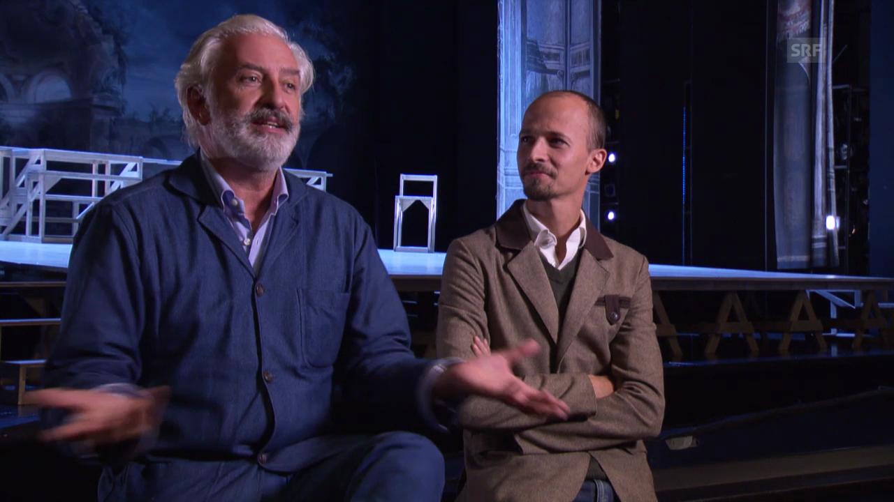 Don Juan im Luzerner Theater: Patrick Kinmonth und Fernando Melo