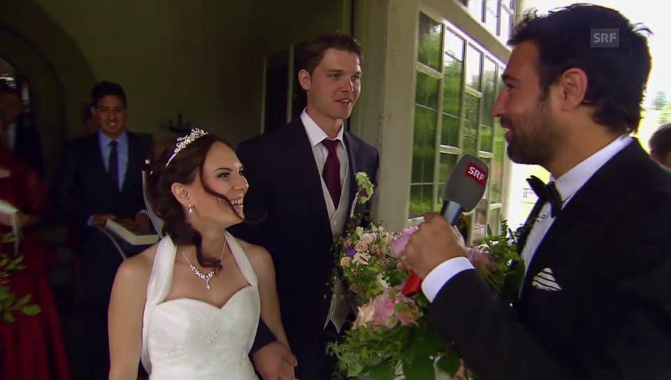 Salar Bahrampoori überrascht ein Brautpaar