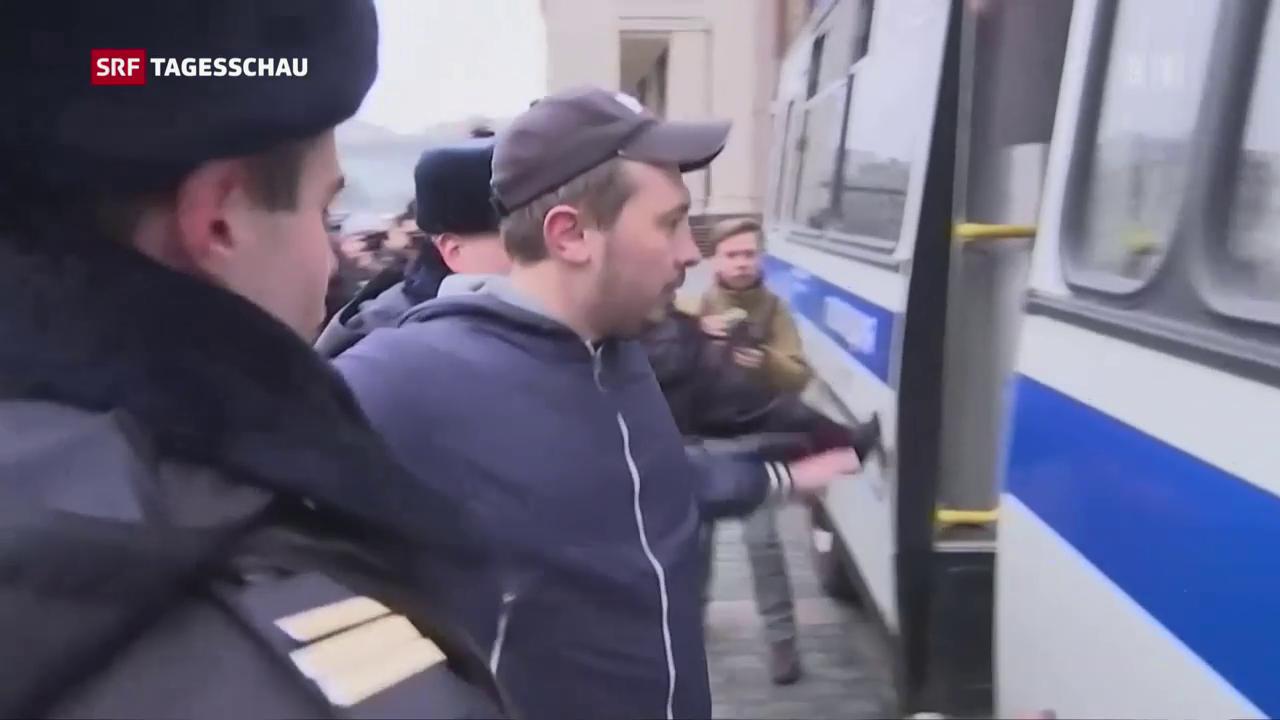 Verhaftung von Demonstranten