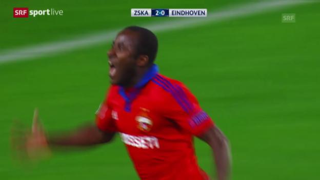 Video «Fussball: CL, ZSKA Moskau - Eindhoven» abspielen