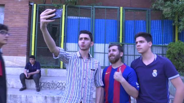 Video «Verblüffende Ähnlichkeit: Messi-Doppelgänger im Iran (SNTV)» abspielen