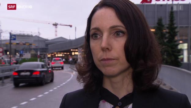 Video «Swiss-Sprecherin zu den Flügen» abspielen
