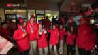 Video «Die Schweizer Medaillenhelden lassen sich feiern» abspielen
