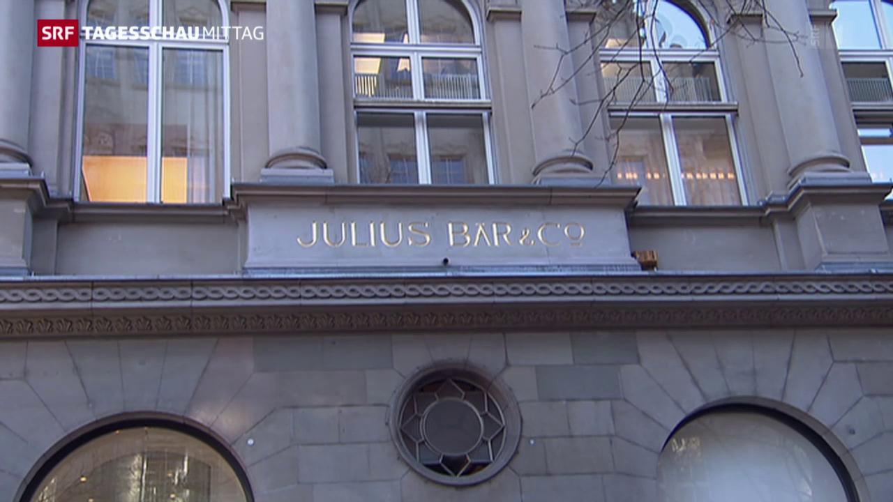 Gewinneinbruch bei der Bank Julius Bär