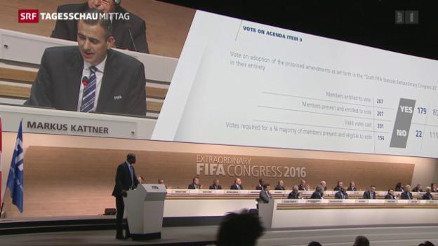Video «Fifa will sich reformieren» abspielen