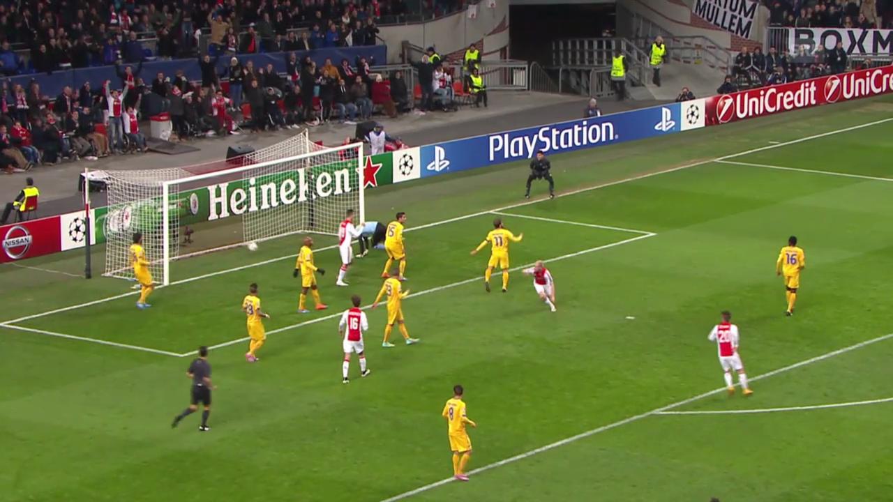 Fussball: Champions League, Gruppenphase, Zusammenfassung Ajax Amsterdam - Apoel Nikosia