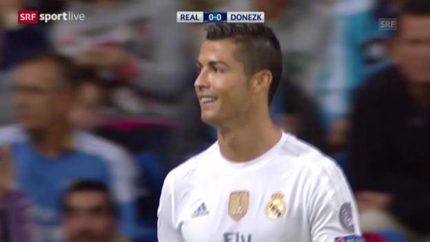 Video «Fussball: Champions League, Zusammenfassung Real Madrid - Schachtar Donezk» abspielen