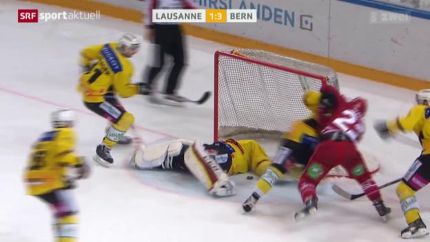 Video «Eishockey: Lausanne - Bern» abspielen
