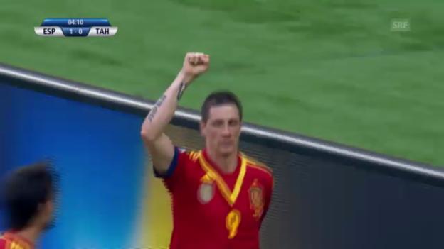 Video «Confed Cup: Spaniens Stängeli gegen Tahiti («sportlive»» abspielen