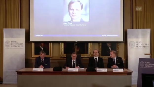 Video «Vergabe des Wirtschaftsnobelpreises» abspielen