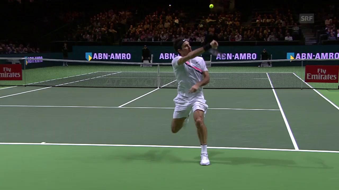 Federer deklassiert Bemelmans