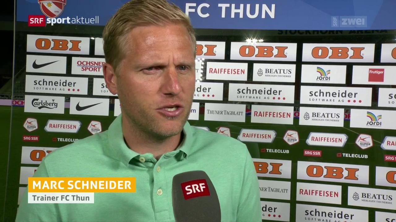 Die Stimmen zum Spiel Thun gegen Basel