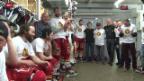 Video «Eishockey: Langnau feiert den Aufstieg der SCL-Tigers» abspielen