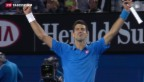 Video «Djokovic triumphiert in Melbourne» abspielen