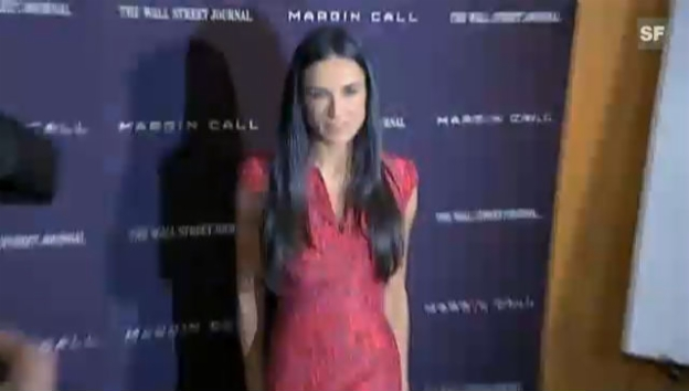 Video «An der Filmpremiere von «Margin Call»: Demi Moore wird immer dünner (unkomm.)» abspielen