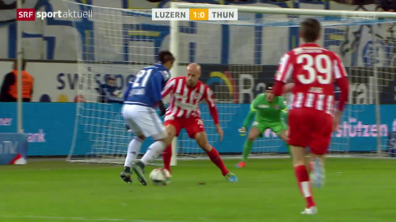 Fussball: Super League, Luzern - Thun