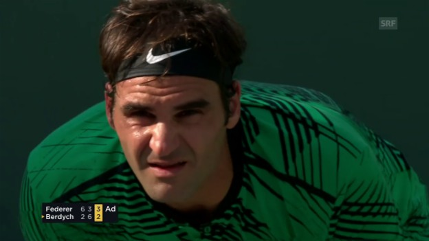 Video «Federer schlägt Berdych in extremis» abspielen