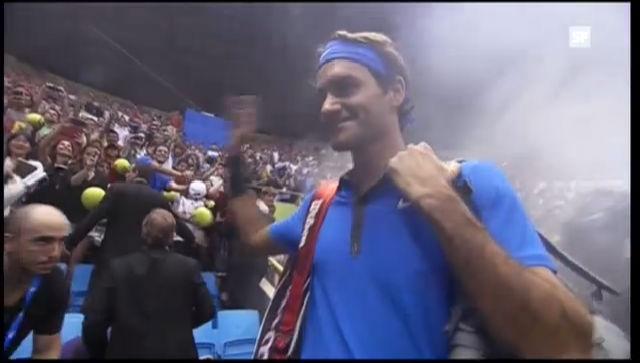 Roger Federer wurde in Brasilien enthusiastisch empfangen, verlor aber gegen Thomaz Bellucci.