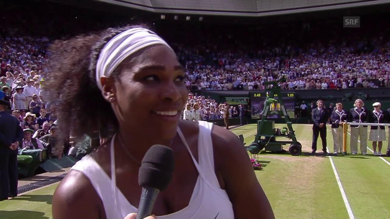 Tennis: Wimbledon, Interview mit Siegerin Williams