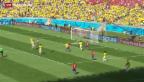 Video «Brasilien und Chile eröffnen den Achtelfinal» abspielen