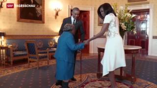 Video «106-Jährige bei Obama » abspielen