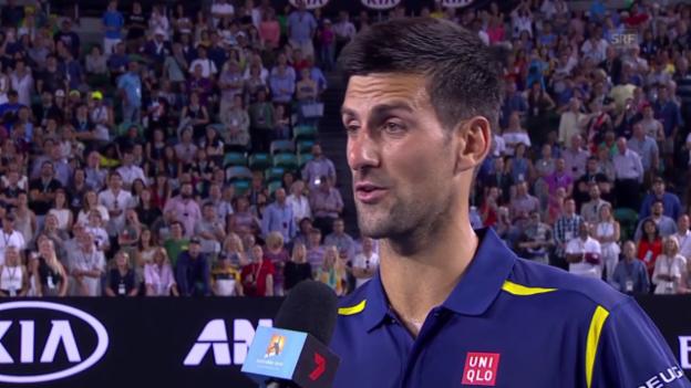 Video «Djokovic: «Es ist immer eine grosse Herausforderung»» abspielen