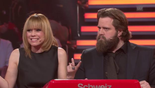 Video «Francine Jordi und Antoine Monot Jr. bei «Spiel für dein Land»» abspielen
