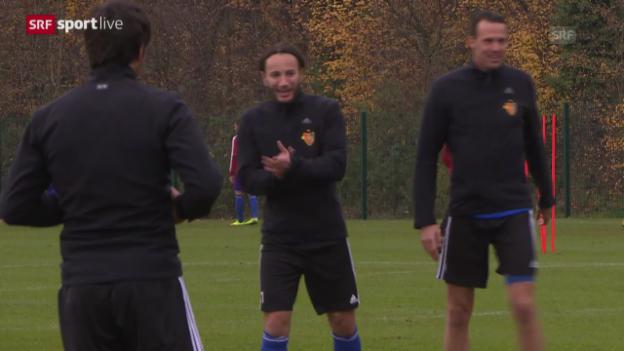 Video «Fussball: Champions League, Basel vor dem Real-Spiel» abspielen