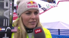 Video «Ski alpin: WM in Vail/Beaver Creek, Super-G der Frauen, Interview mit Lindsey Vonn» abspielen
