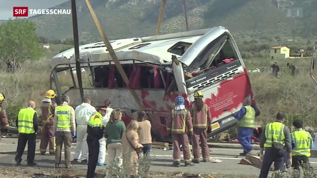 Bus-Unglück in Spanien