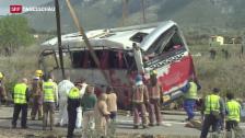 Video «Bus-Unglück in Spanien» abspielen