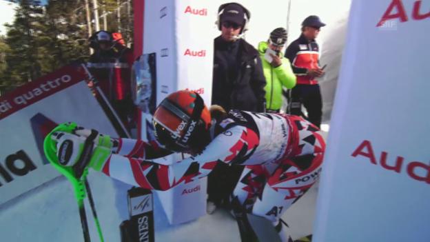 Video «Ski alpin: WM 2015 in Vail/Beaver Creek: Super-Kombi Frauen, Slalom, Nicole Hosp» abspielen