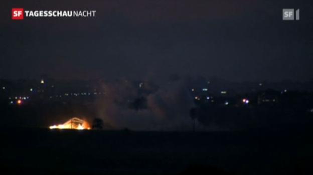 Video «Weitere Gewalt und Vermittlungsbemühungen in Nahost (Tagesschau Nacht, 19.11.2012)» abspielen