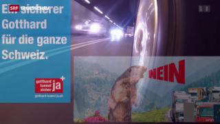 Video «Zweite Gotthard-Röhre verliert an Zustimmung» abspielen
