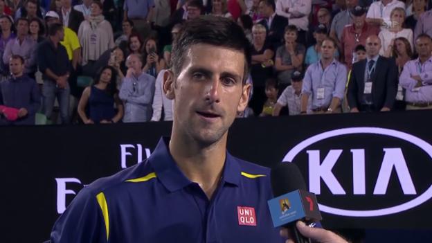 Video «Interview Djokovic» abspielen