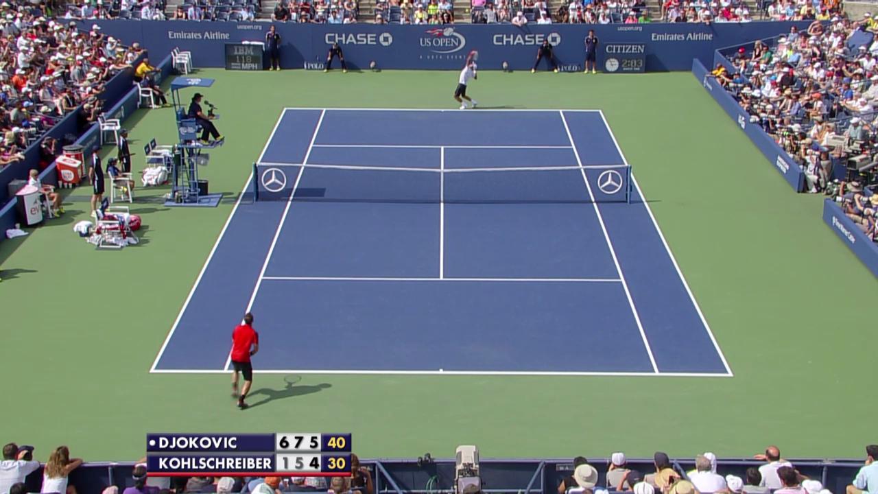 Tennis: Matchball von Djokovic