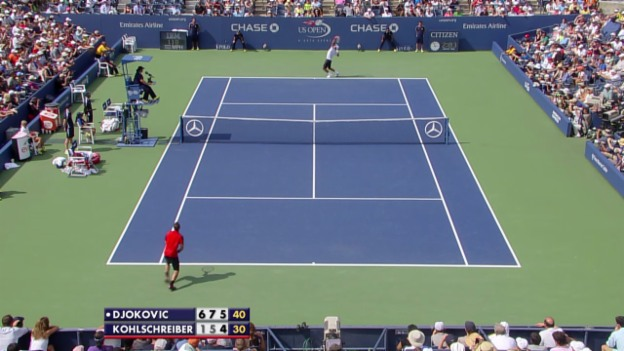 Video «Tennis: Matchball von Djokovic» abspielen