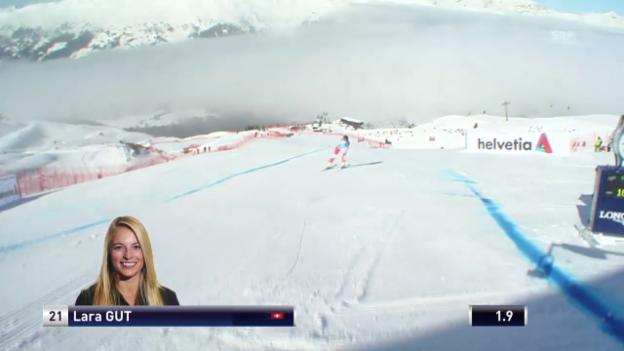 Video «Lara Guts Fahrt im Super-G in Lenzerheide» abspielen