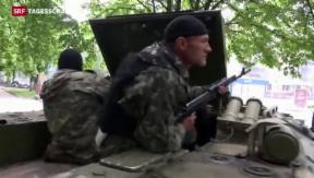 Video «Schwere Gefechte in der Ostukraine» abspielen