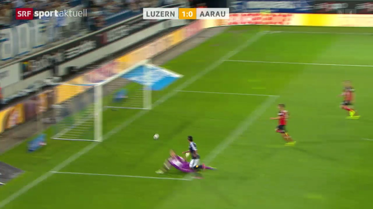 Fussball: Super League, Luzern - Aarau