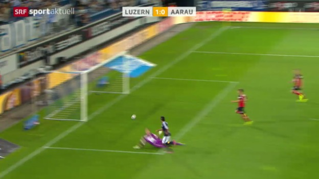 Video «Fussball: Super League, Luzern - Aarau» abspielen