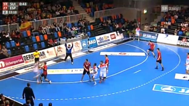 Video «Handball: EM-Quali Schweiz - Spanien» abspielen
