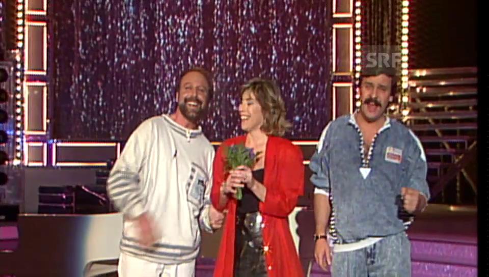 1987: Erstes Comeback im «Supertreffer» bei Kurt Felix