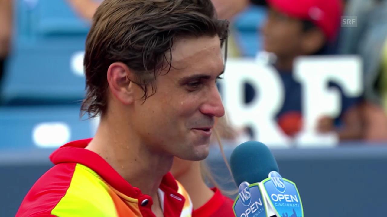 Tennis: Platzinterview mit David Ferrer