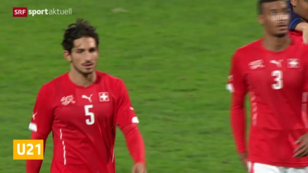 Video «Fussball: U21, Schweiz - Italien» abspielen